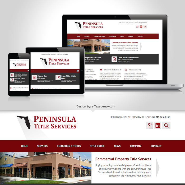 Peninsula Title Services responsive website design