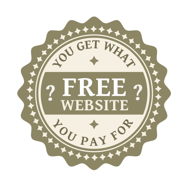 Free website? You get what you pay for.